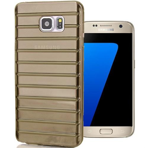 CoverZone Samsung Galaxy A3 Kılıf 2016 A310 Çizgili Silikon Füme