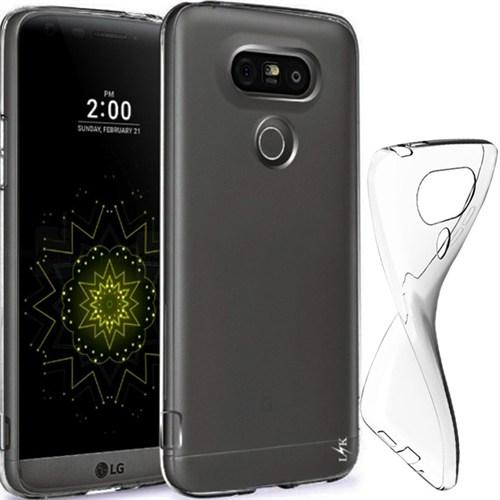 CoverZone Lg G5 Kılıf 0.3 Mm Ultra İnce Silikon Füme