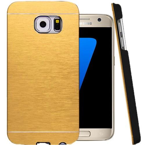 CoverZone Samsung Galaxy A7 Kılıf 2016 A710 Motomo Sert Gold