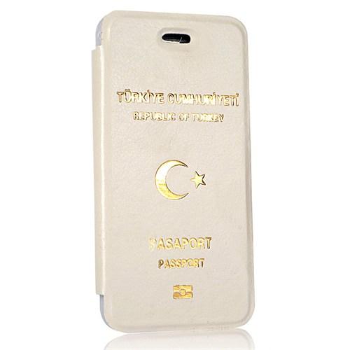 CoverZone İphone Se Kılıf Pasaport Kılıf Beyaz