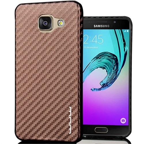 CoverZone Samsung Galaxy A3 2016 Kılıf A310 Karbon Kılıf Kahverengi