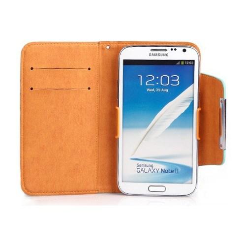 CoverZone Samsung Galaxy Note 2 Kılıf Cüzdan Kalaideng Fresh Beyaz