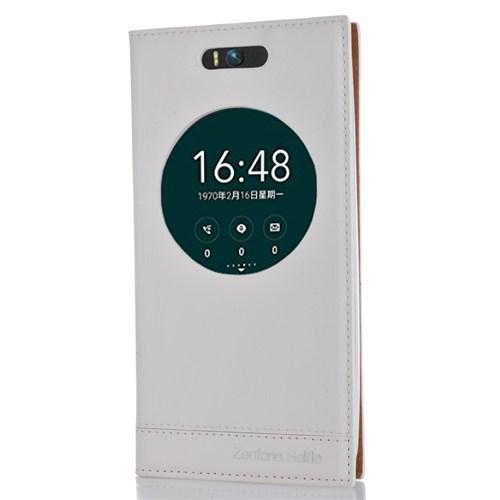 CoverZone Asus Zenfone Selfie Kılıf Milano Pencere Kapaklı Beyaz