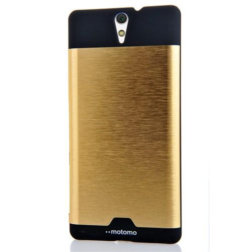 CoverZone Sony Xperia C5 Ultra Metalik Arka Kapak Gold