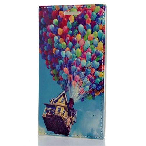 CoverZone Samsung Galaxy J2 Kılıf Kapaklı Resimli Balonlar