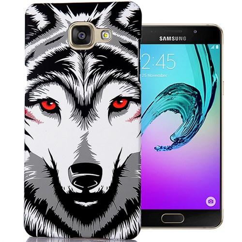Cover Me Samsung Galaxy A7 2016 Kılıf A710 Resimli Kapak Beyaz Kurt