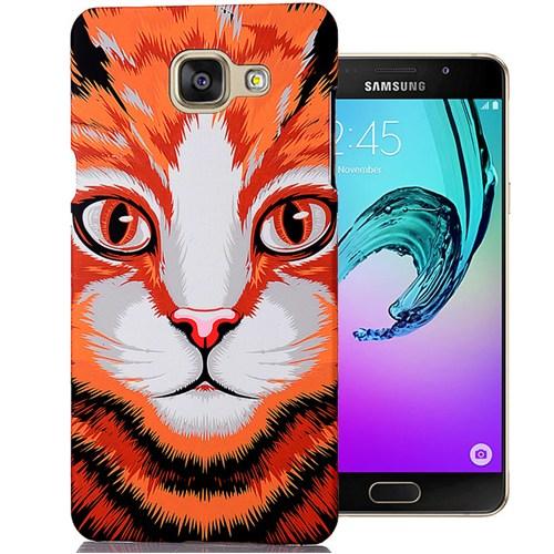 Cover Me Samsung Galaxy A7 2016 Kılıf A710 Resimli Kapak Kedi