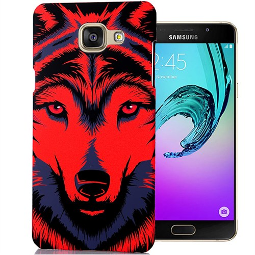 Cover Me Samsung Galaxy A7 2016 Kılıf A710 Resimli Kapak Kırmızı Kurt