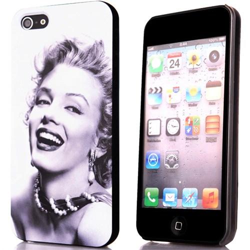 CoverZone İphone Se Kılıf Resimli Sert Arka Kapak Marilyn Monroe