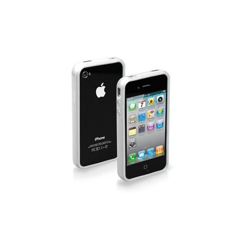 SBS TE0PGB40W iPhone 4/4S Uyumlu Bumper Kılıf - Beyaz