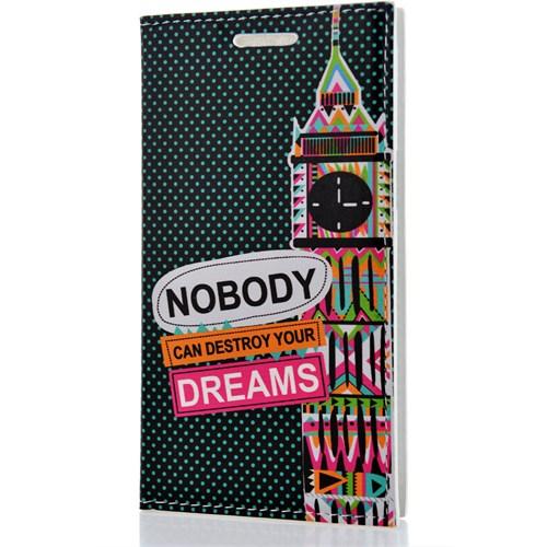 CoverZone Samsung Galaxy J2 Kılıf Kapaklı Resimli Dreams