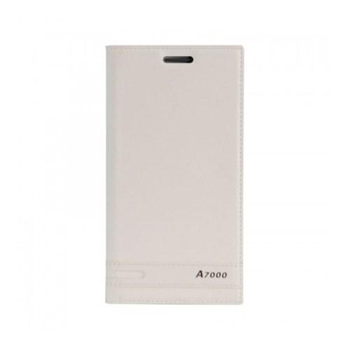 Lopard Lenovo A7000 Kılıf Kapaklı Sapphire Case Deri Beyaz
