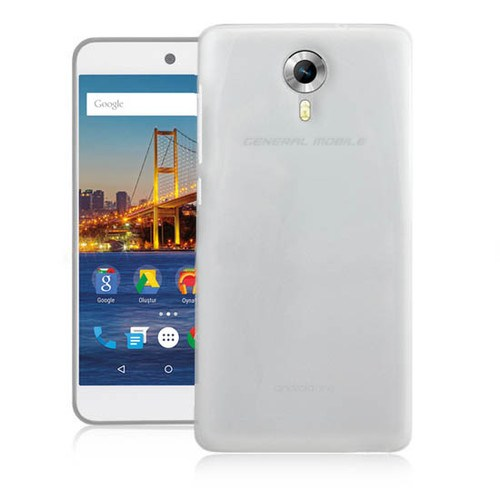 Markaawm General Mobile 4G Android One Kılıf 0.3Mm Transparan Silikon