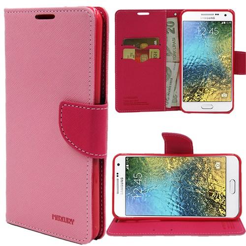 Markaawm Samsung Galaxy E7 Kılıf Mercury Cüzdanlı Standlı