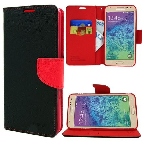 Markaawm Samsung Galaxy Alpha Kılıf Cüzdanlı Standlı