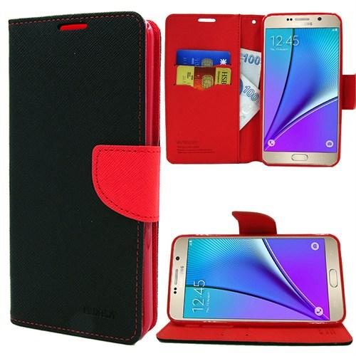Markaawm Samsung Galaxy Note 5 Kılıf Mercury Cüzdanlı Standlı