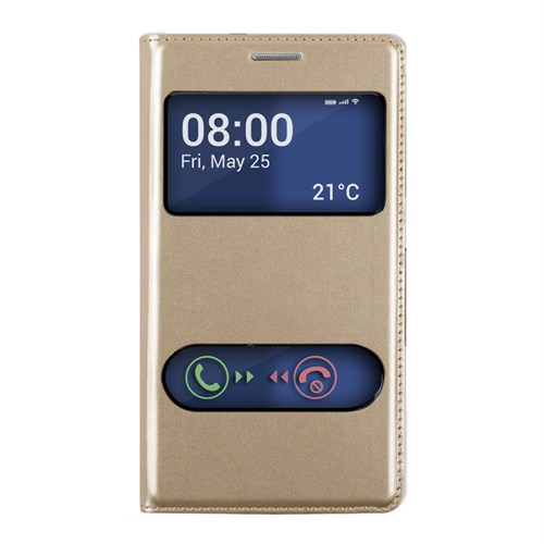 Markaawm Sony Xperia E4 Kılıf Flip Cover Pencereli Deri