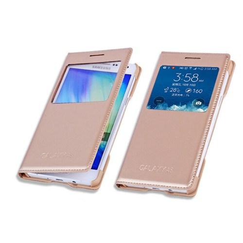 Markaawm Samsung Galaxy A8 Kılıf Flip Cover Pencereli