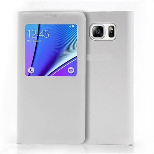 Markaawm Samsung Galaxy Note 5 Kılıf Pencereli