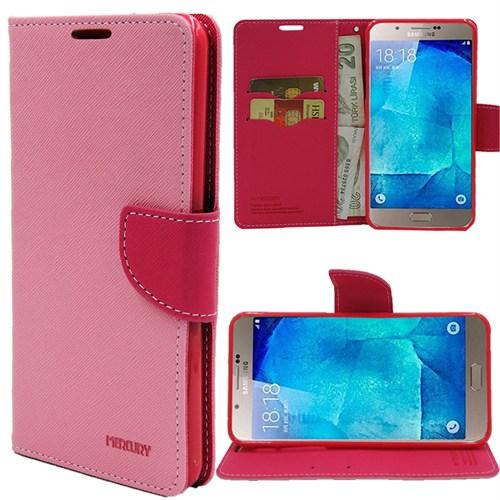 Markaawm Samsung Galaxy A8 Kılıf Mercury Cüzdanlı Standlı