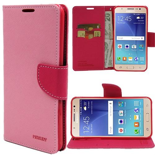 Markaawm Samsung Galaxy J7 Kılıf Mercury Cüzdanlı Standlı