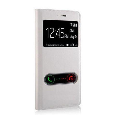 Markaawm Huawei Ascend G700 Kılıf Pencereli Deri Dikişli
