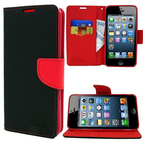Markaawm Apple iPhone 5S Kılıf iPhone 5 Cüzdanlı Standlımercury