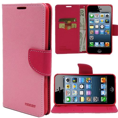 Markaawm Apple iPhone 4S Kılıf iPhone 4 Kılıf Mercury Cüzdanlı Standlı
