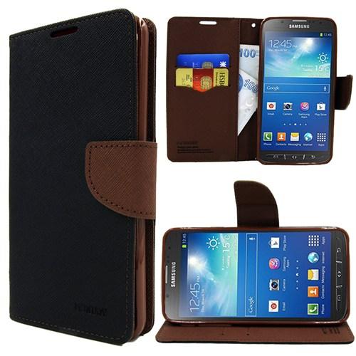 Markaawm Samsung Galaxy S4 Active Kılıf Cüzdanlı Mercury