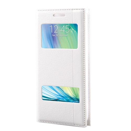 Markaawm Samsung Galaxy A3 Kılıf Gizli Mıknatıs Pencereli