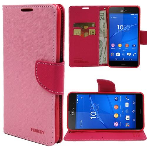 Markaawm Sony Xperia Z3 Compact Kılıf Cüzdanlı Standlı