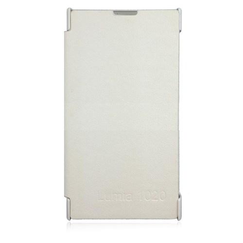 Markaawm Nokia Lumia 1020 Kılıf Flip Cover Kapaklı Kılıf