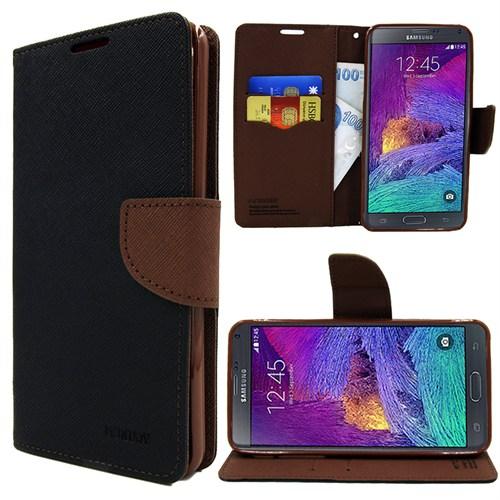 Markaawm Samsung Galaxy Note 4 Kılıf Mercury Cüzdanlı Standlı
