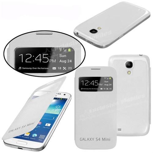 Markaawm Samsung Galaxy S4 Mini Kılıf Flip Cover Sleep Modlu