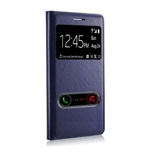 Markaawm Sony Xperia C3 Kılıf Flip Cover Pencereli