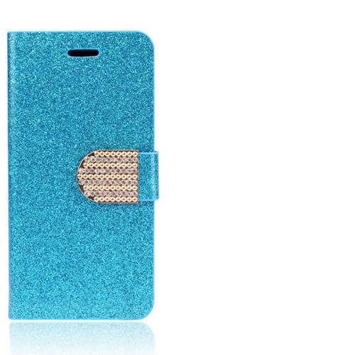 Markaawm Samsung Galaxy S4 Kılıf Cüzdanlı Simli Taşlı