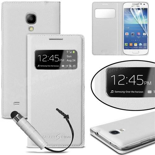 Markaawm Samsung Galaxy S4 Mini Kılıf Note 3 Tasarım Flip Cover