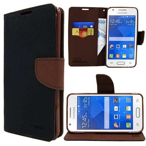 Markaawm Samsung Galaxy Ace 4 Kılıf Cüzdanlı Mercury