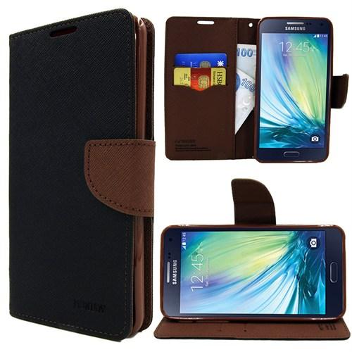Markaawm Samsung Galaxy A3 Kılıf Kapak Cüzdanlı Mercury