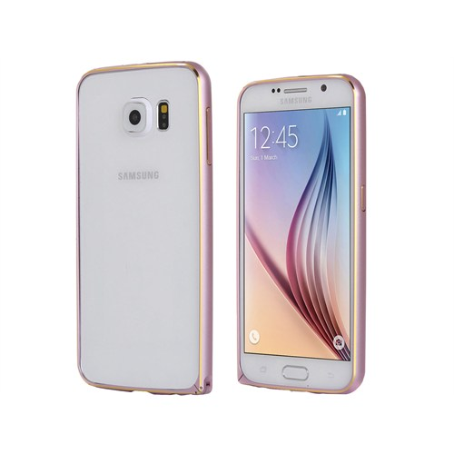 Markaawm Samsung Galaxy S6 Kılıf Bumper Metal Çerçeve