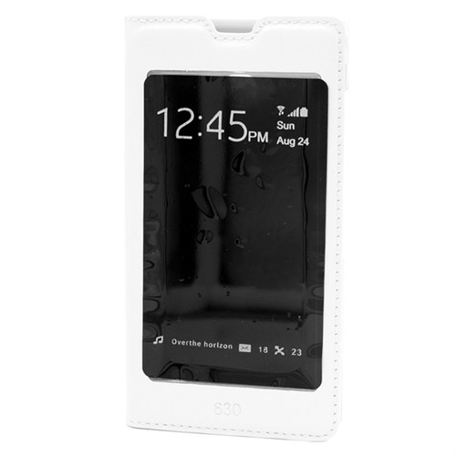 Markaawm Nokia Lumia 630 Kılıf Büyük Pencereli