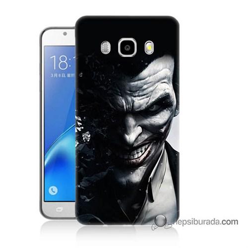 Teknomeg Samsung J7 2016 Kılıf Kapak Joker Baskılı Silikon