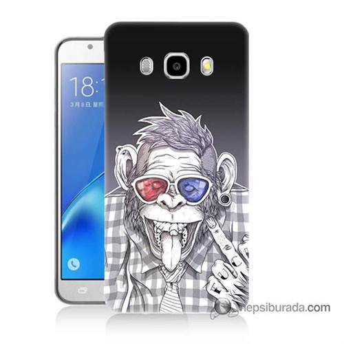 Teknomeg Samsung J7 2016 Kapak Kılıf Maymun Baskılı Silikon