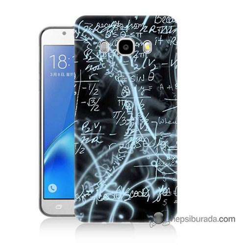 Teknomeg Samsung J7 2016 Kapak Kılıf Matematik Baskılı Silikon