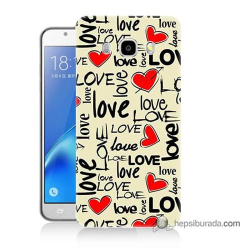 Teknomeg Samsung J7 2016 Kapak Kılıf Love Baskılı Silikon
