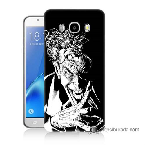 Teknomeg Samsung J7 2016 Kapak Kılıf Gülen Joker Baskılı Silikon