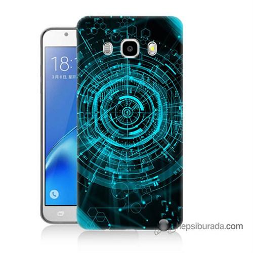 Teknomeg Samsung J7 2016 Kapak Kılıf Asit Baskılı Silikon