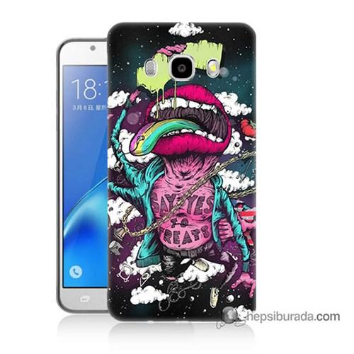 Teknomeg Samsung J7 2016 Kapak Kılıf Roling Stones Baskılı Silikon