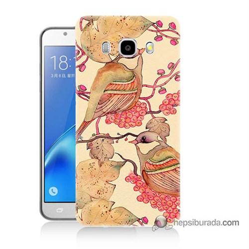 Teknomeg Samsung J7 2016 Kılıf Kapak Kuşlar Baskılı Silikon