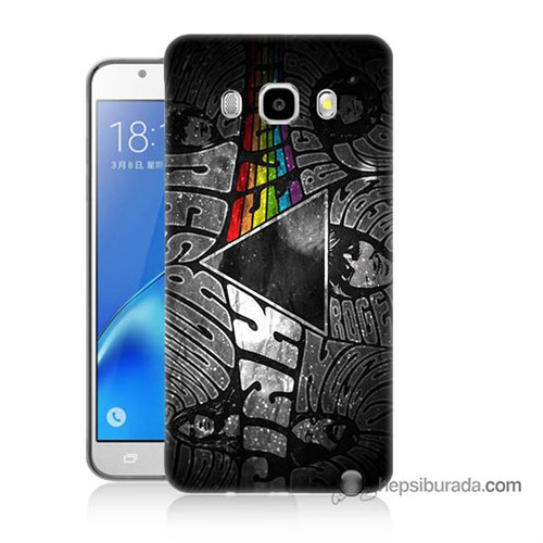Teknomeg Samsung J7 2016 Kapak Kılıf Pink Floyd Baskılı Silikon